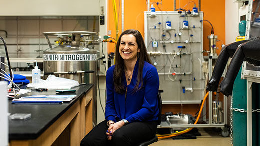 PHOTO: Sarah Hörst in her lab at JHU