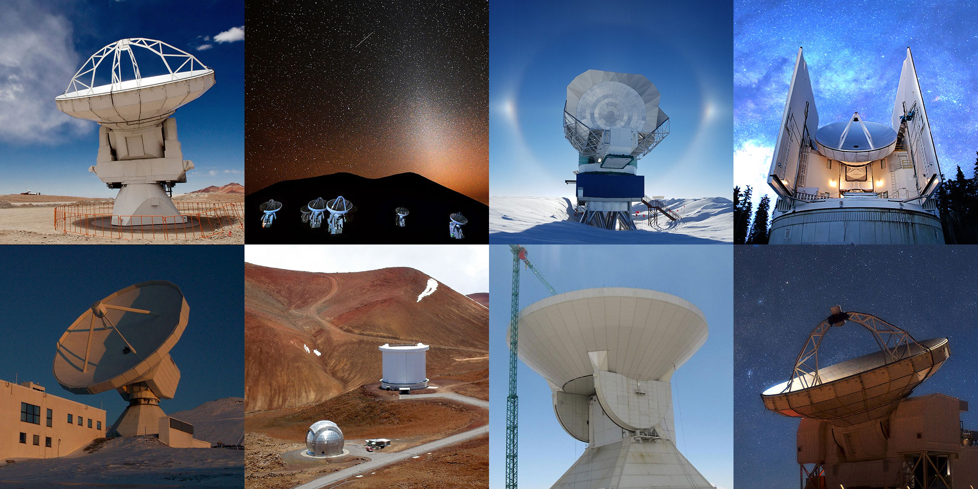 COLLAGE: 8 telescopes