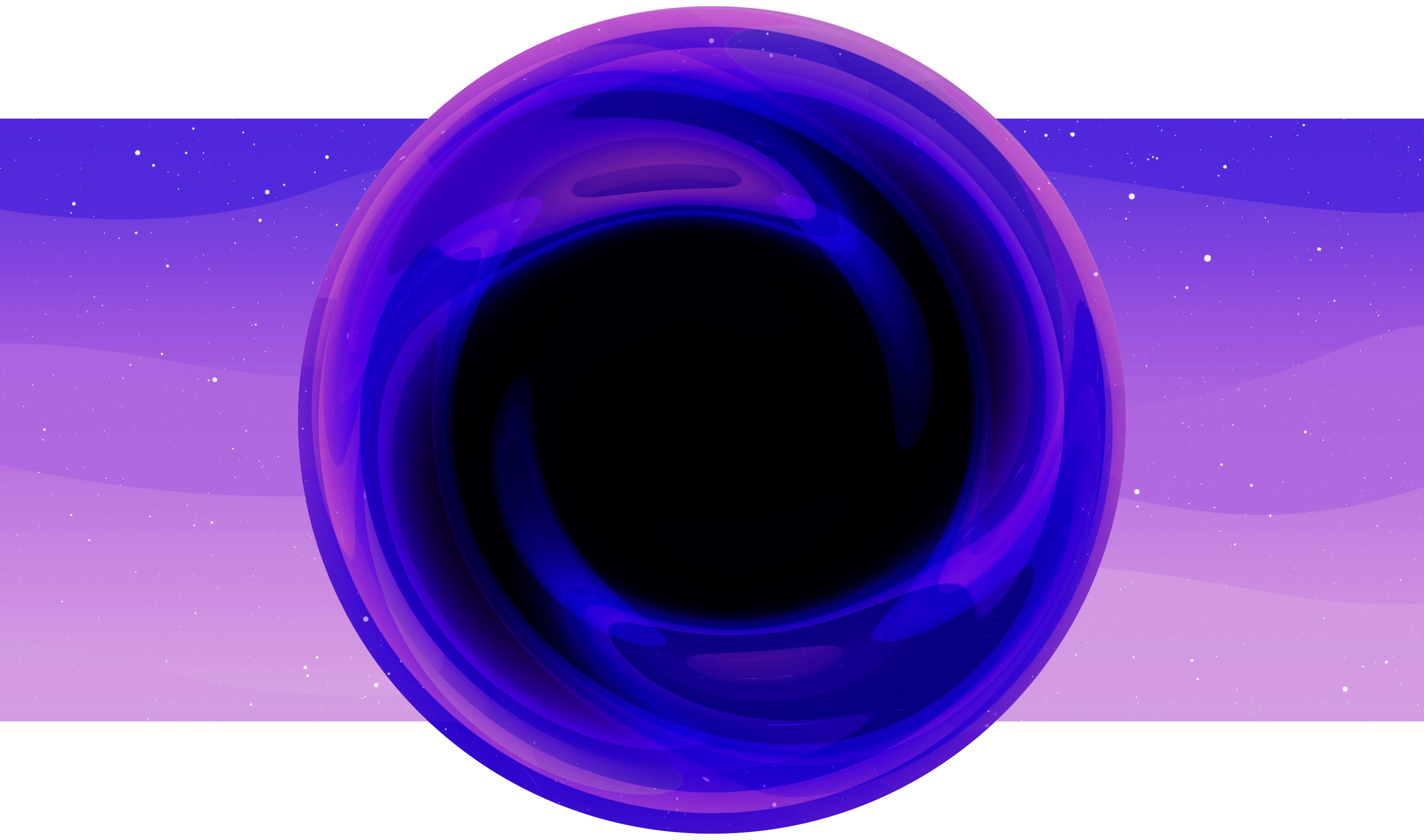 An illustration of an extra-large black hole.