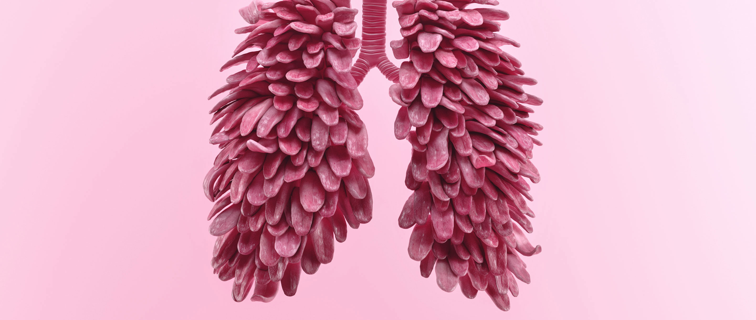 "Lungs made from a collection of ""tasting"" tongues."