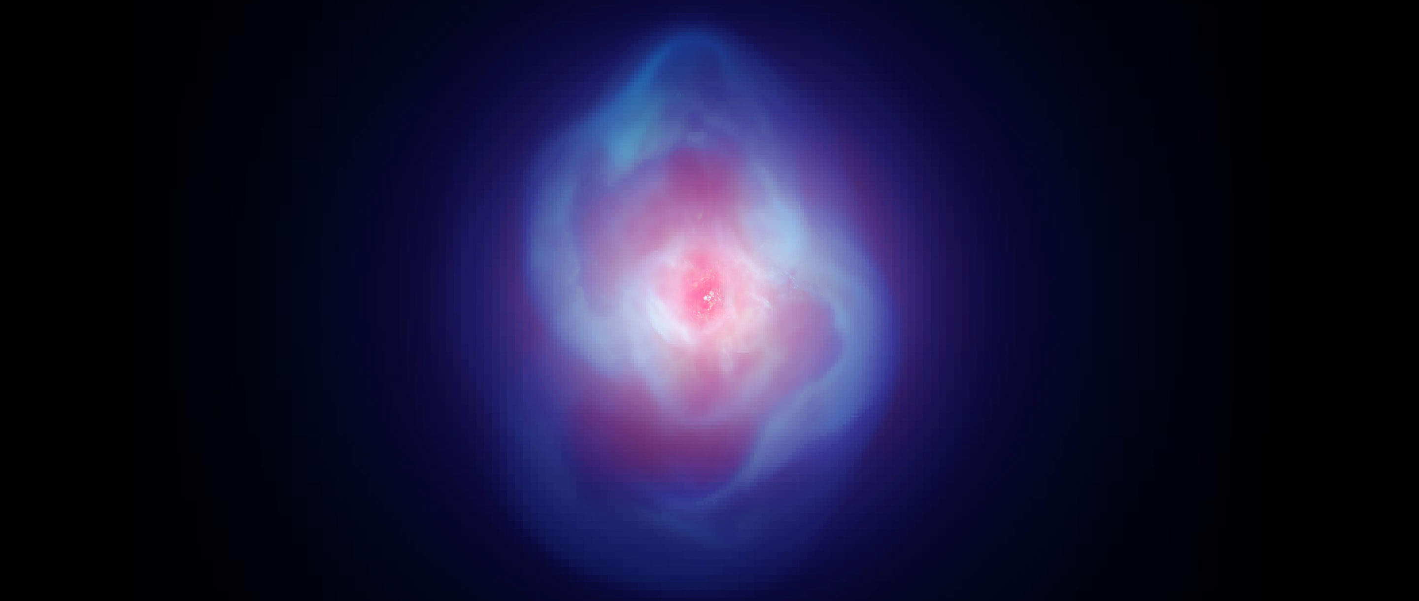 Video simulation of gas around a black hole.