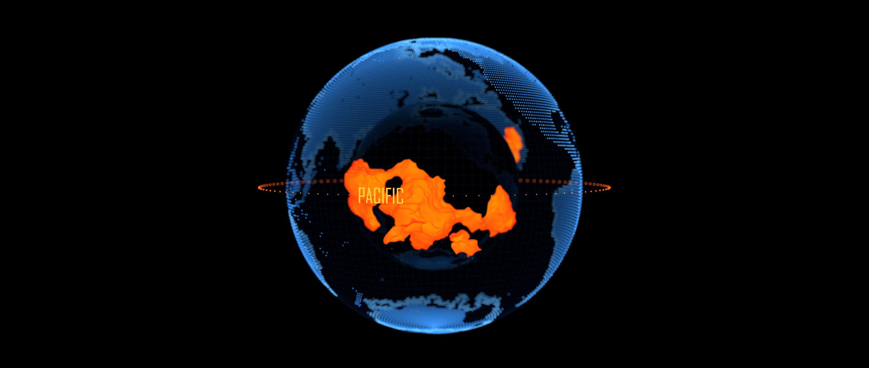 Spinning globe highlighting LLVSPs.
