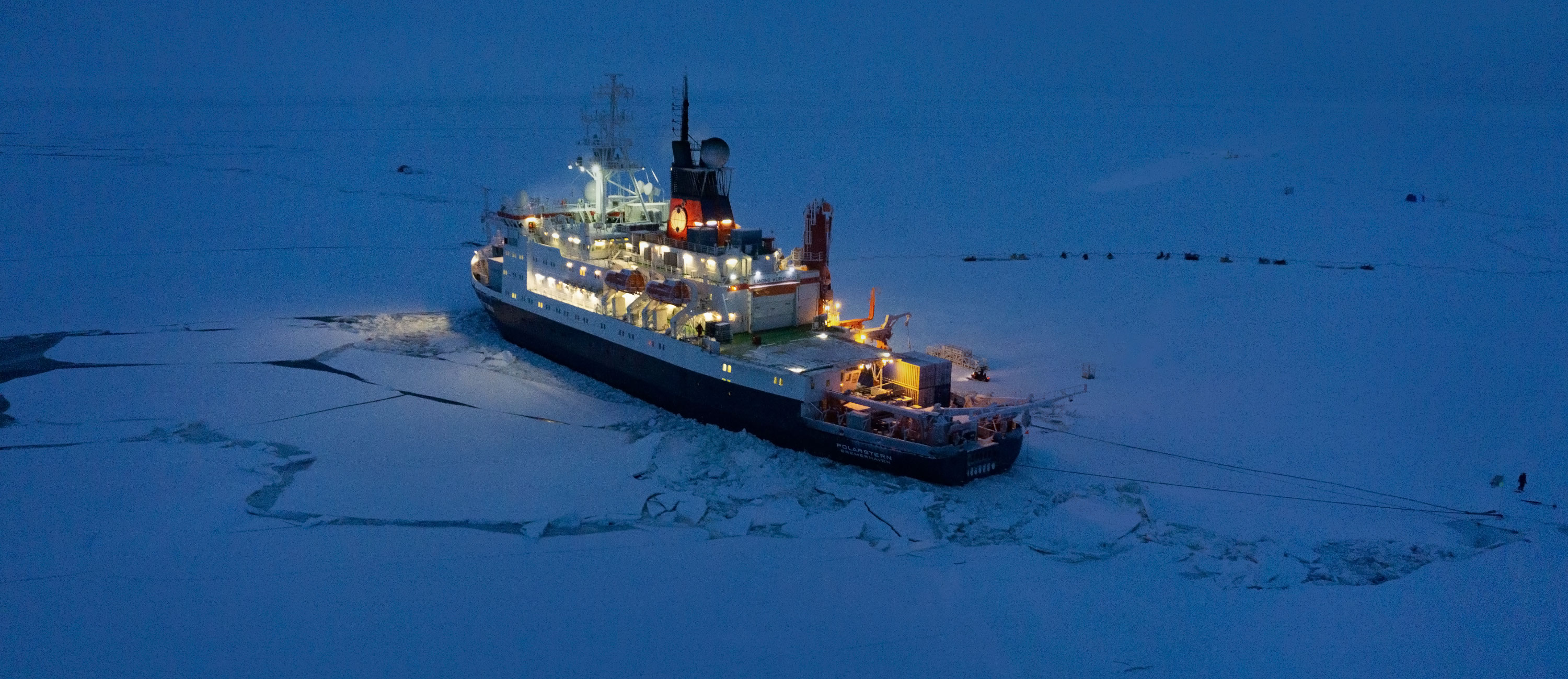 The Polarstern icebreaker in sea ice.
