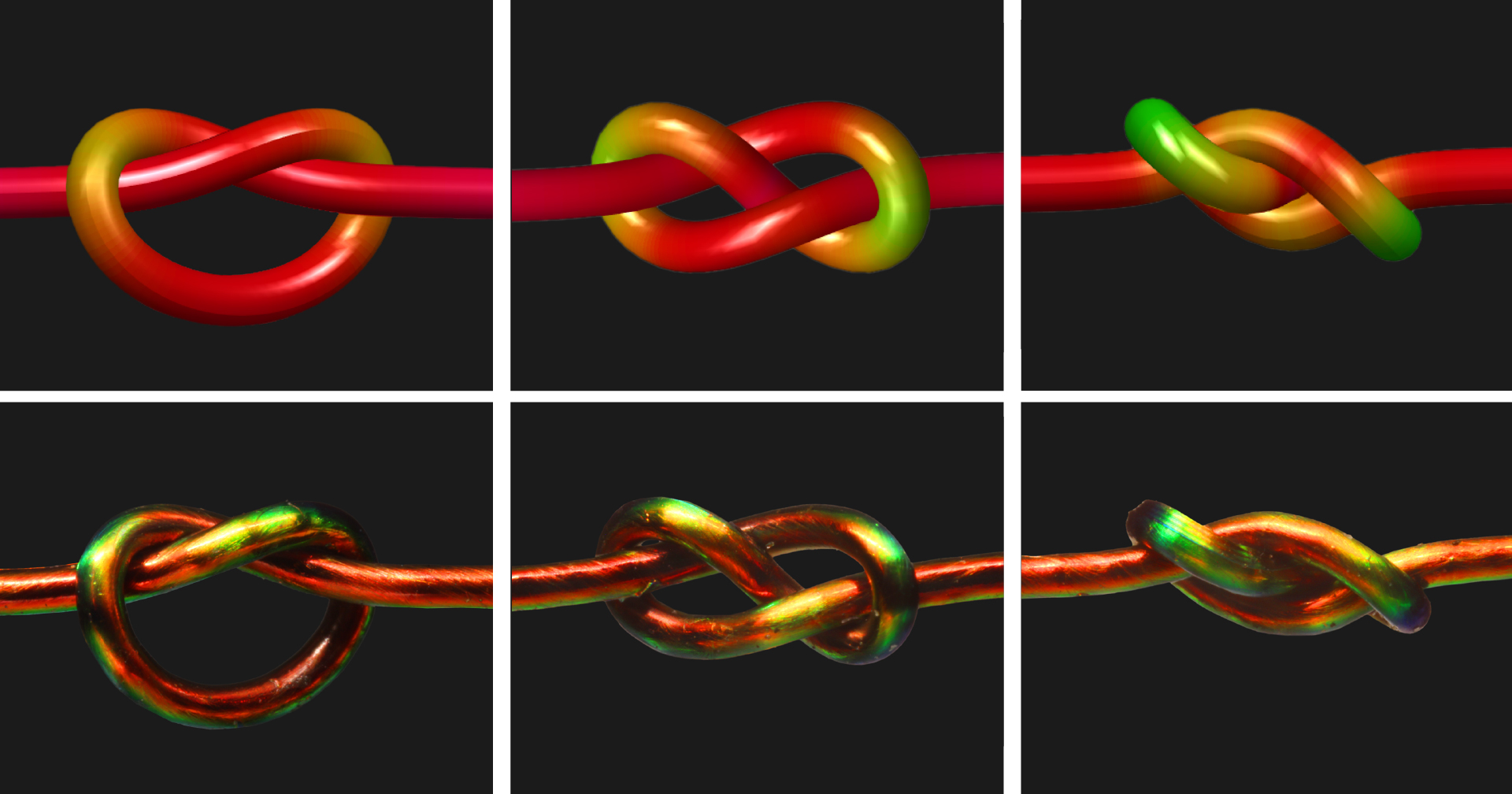 Color-Changing Material Unites the Math and Physics of Knots | Quanta Magazine