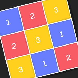 An animation showing a 3-by-3 Latin square, with numbers color coded, and the equivalent graph.