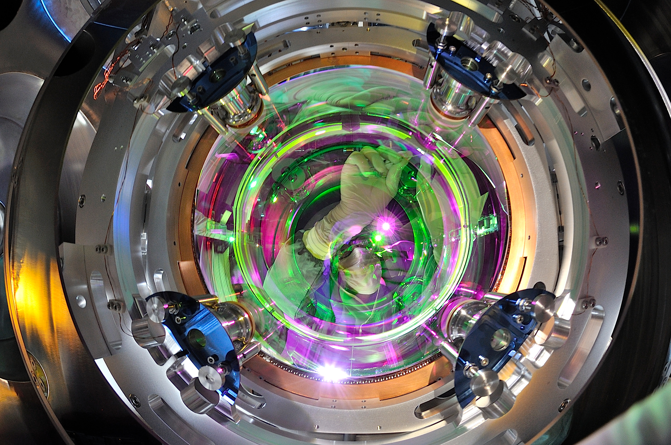 Image of LIGO's mirror.
