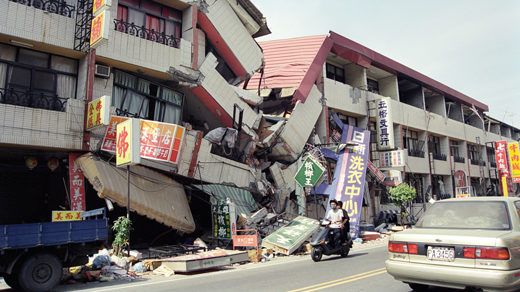 Destruction from 1999 Taiwan earthquake.