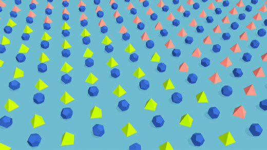 "Animated illustration showing vulnerable red shapes become ""infected"" and turn green, amid immune blue shapes."