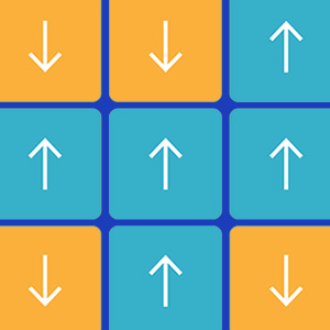 Gif of a grid of arrows whose directions flip up and down.