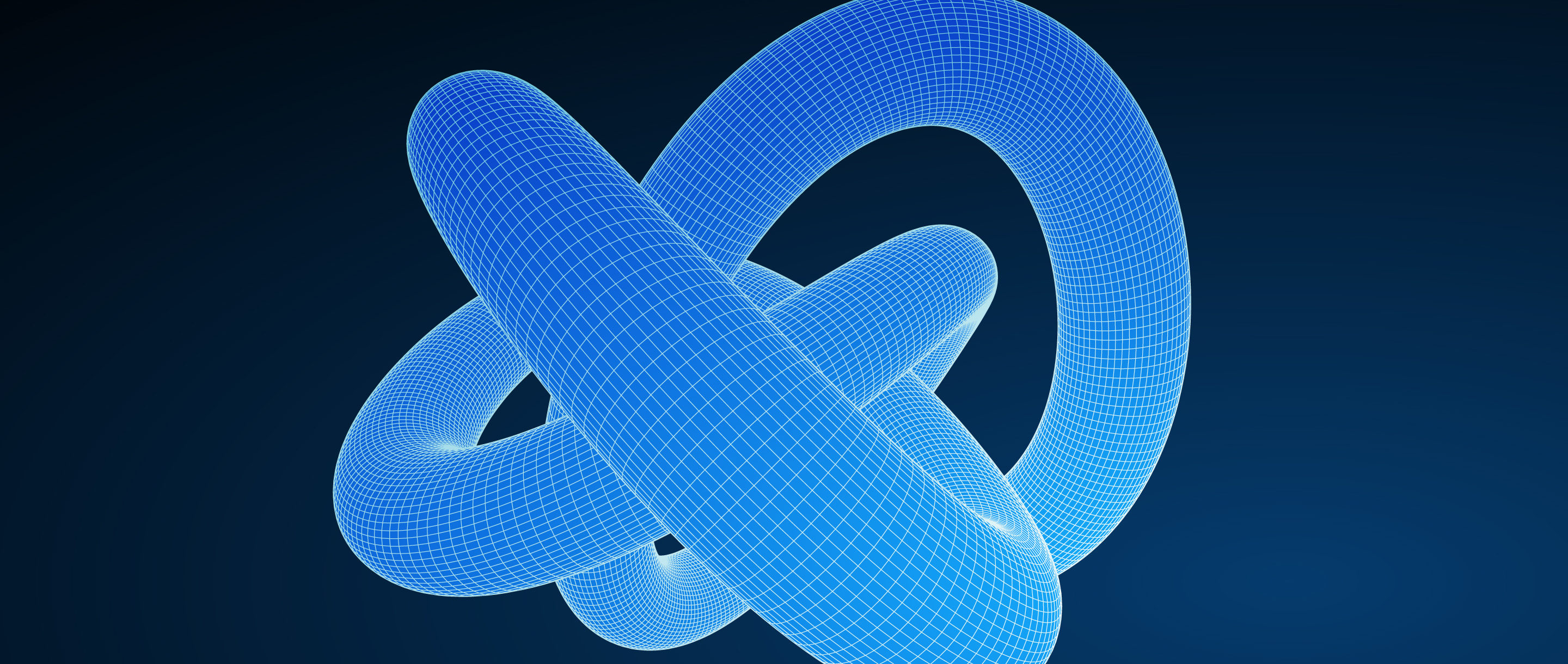 An illustration of a knot that mathematicians might study using tools called invariants.