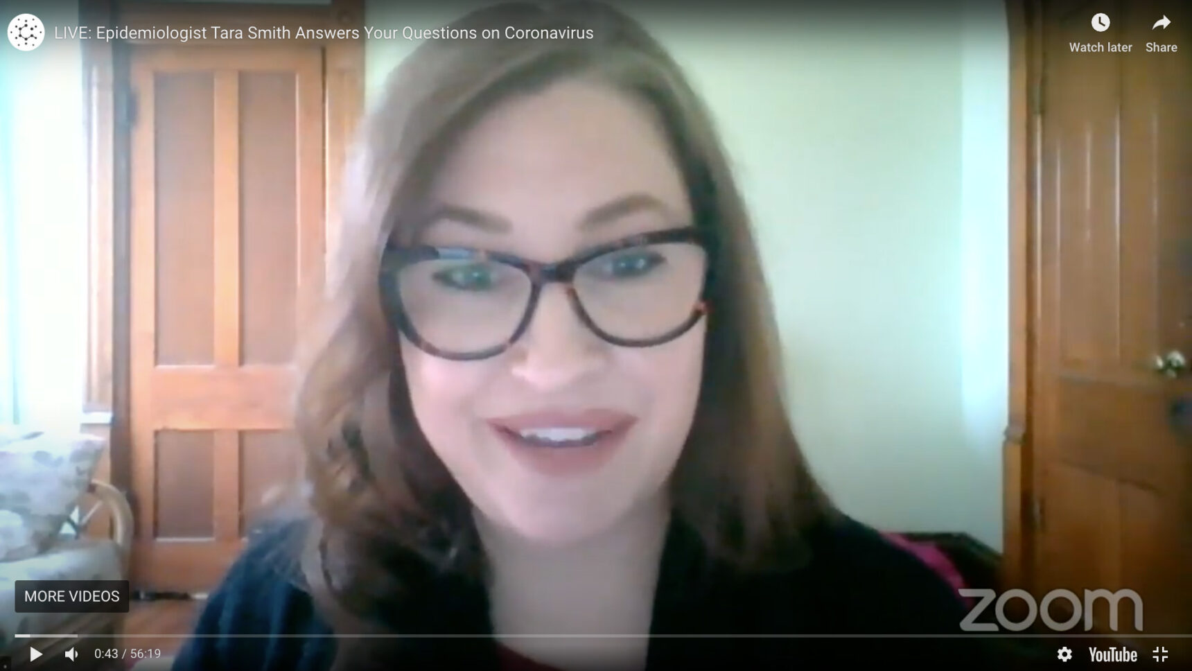 Highlights from Tara C. Smith's live YouTube event on May 1, 2020, in which she answered reader questions about the COVID-19 pandemic.