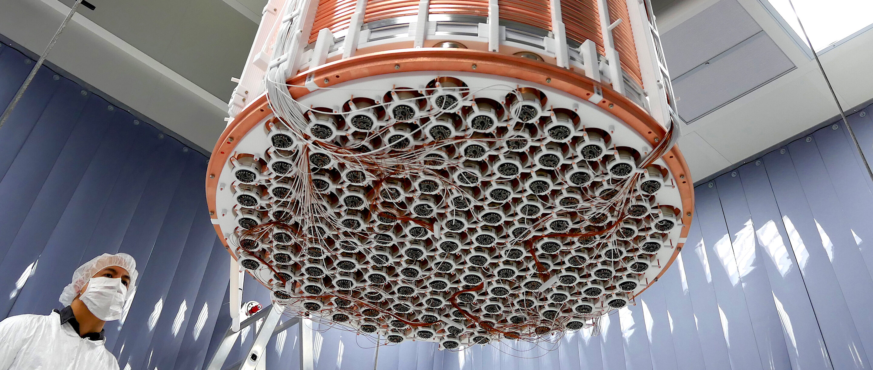 The XENON1T detector's time projection chamber.