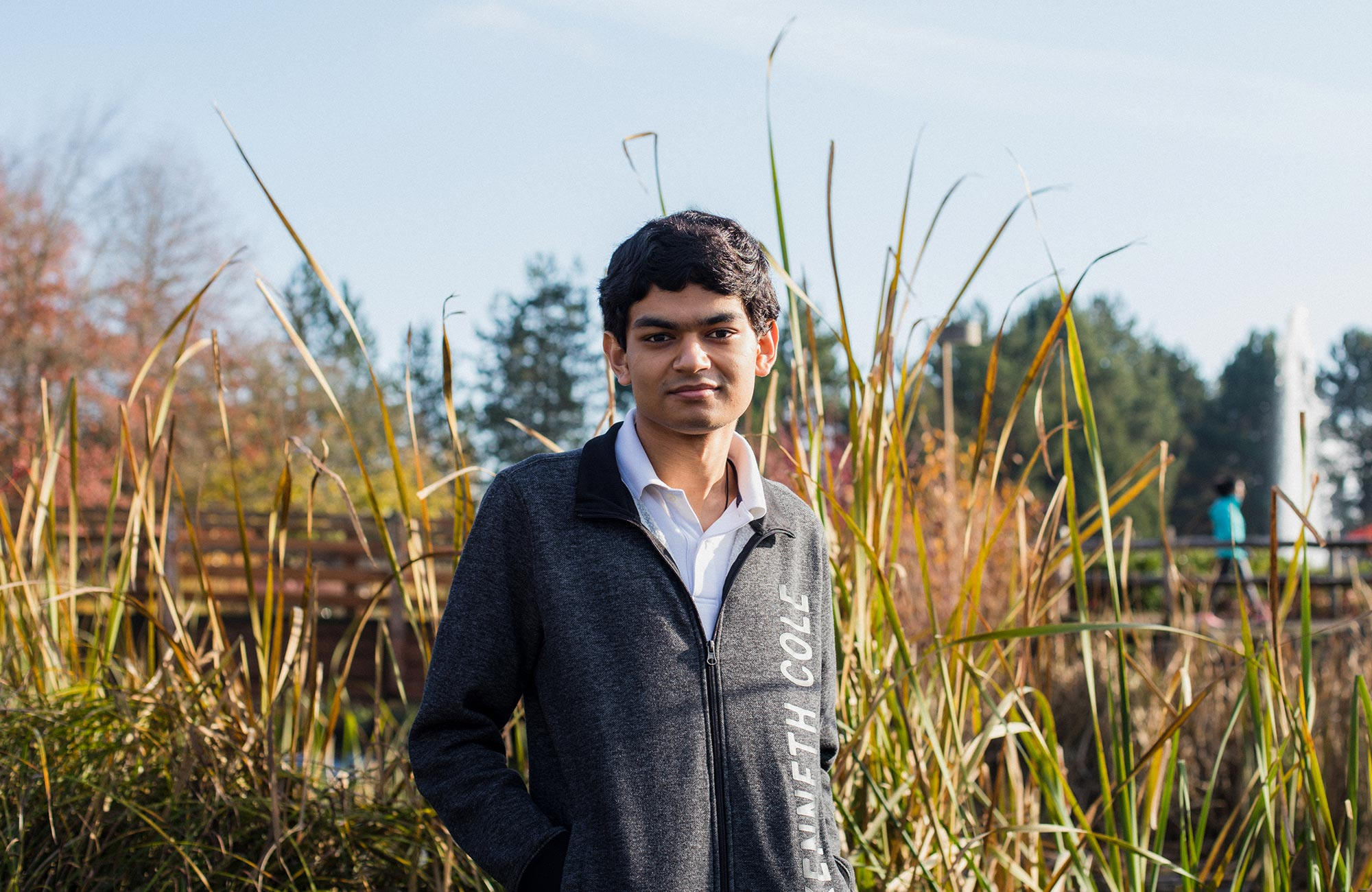 Photo of Ashwin Sah standing outside