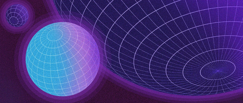 Spheres of three different sizes.