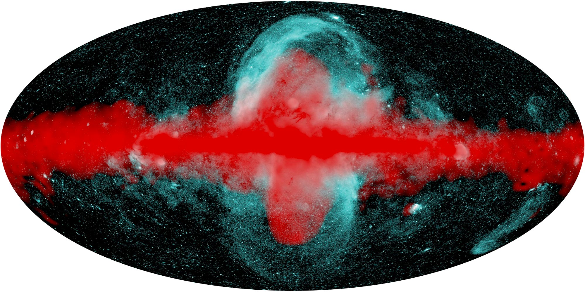 Observaciones combinadas de rayos X y rayos gamma de la Vía Láctea.