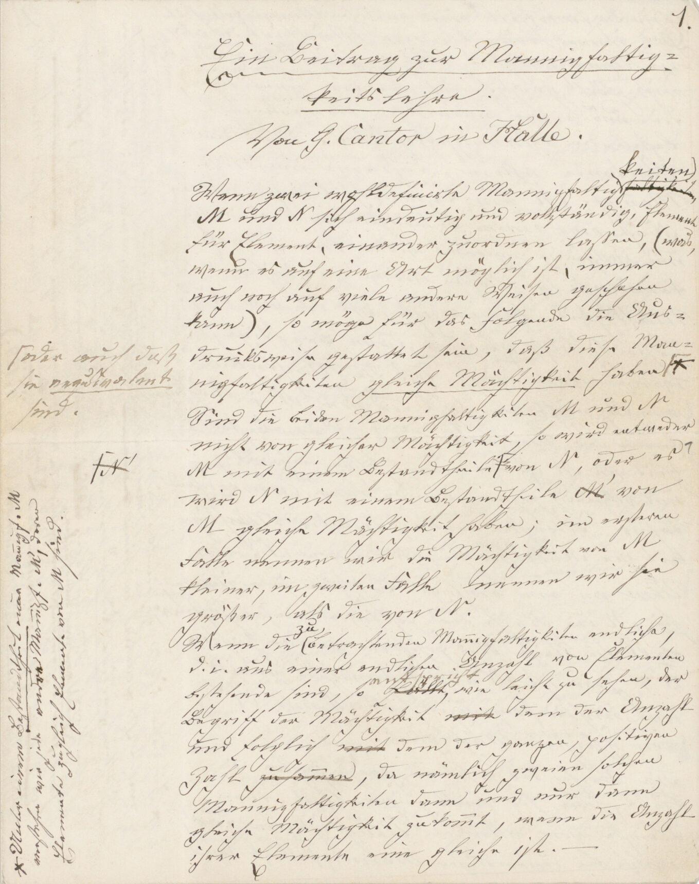 A German manuscript.